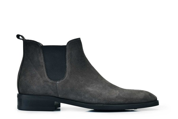 Nevzat Onay - Nevzat Onay Men Gray Suede Leather Chelsea Boots
