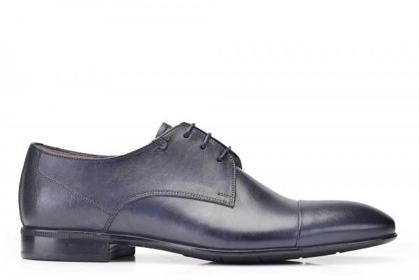 Nevzat Onay - Nevzat Onay Navy Leather Casual Derby Shoes