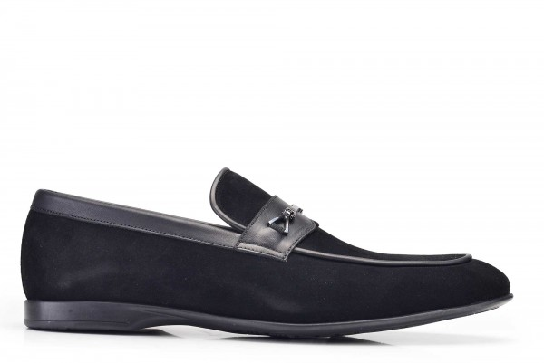 Nevzat Onay - Nevzat Onay Black Suede Casual Loafer Shoes