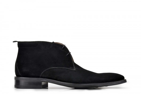 Nevzat Onay - Nevzat Onay Men Black Suede Leather Chukka Boots