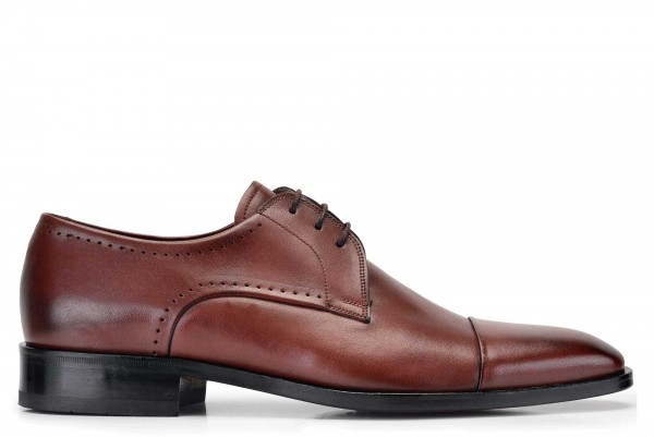 Nevzat Onay - Nevzat Onay Men Brown Leather Derby Shoes