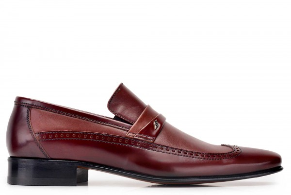 Nevzat Onay - Nevzat Onay Men Burnished Brown Leather Loafer Shoes