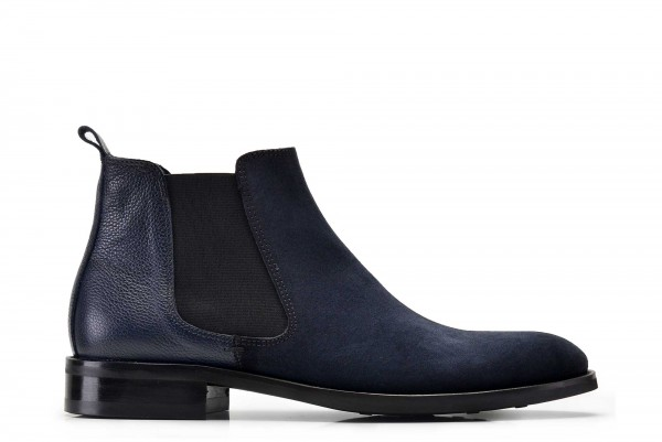 Nevzat Onay - Nevzat Onay Men Navy Suede Leather Chelsea Boots