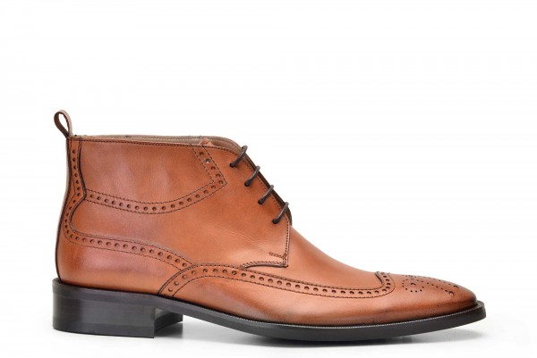 Nevzat Onay - Nevzat Onay Men Tan Leather Brogue Boots