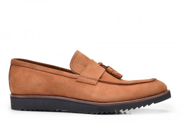 Nevzat Onay - Nevzat Onay Tan Suede Casual Loafer Shoes